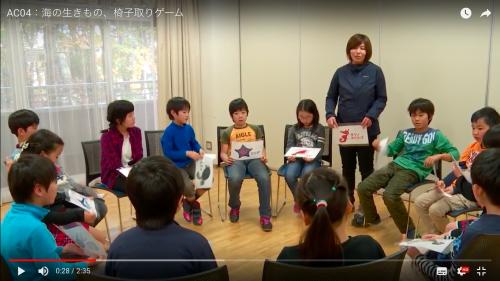 1.参加者は1枚ずつカードを持って、輪にした椅子に座わります。