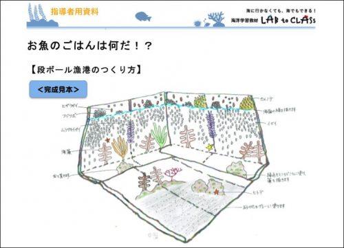 指導者資料【段ボール漁港のつくりかた】